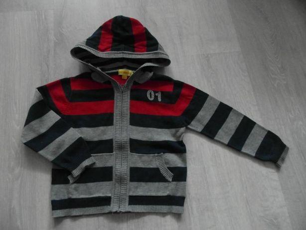 Sweter chłopięcy rozpinany 104/110 cm