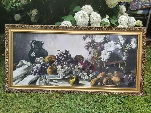 Obraz, stary, antyk, martwa natura