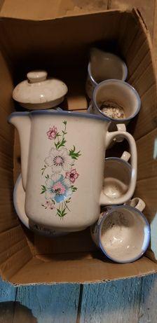 Stary PRL serwis do herbaty kawy
