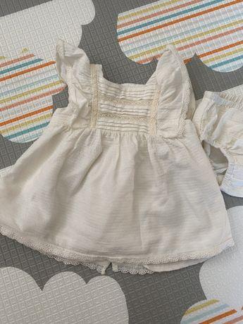 Sukienka na chrzest/ do chrztu/ sukienka Zara/ rozmiar 62