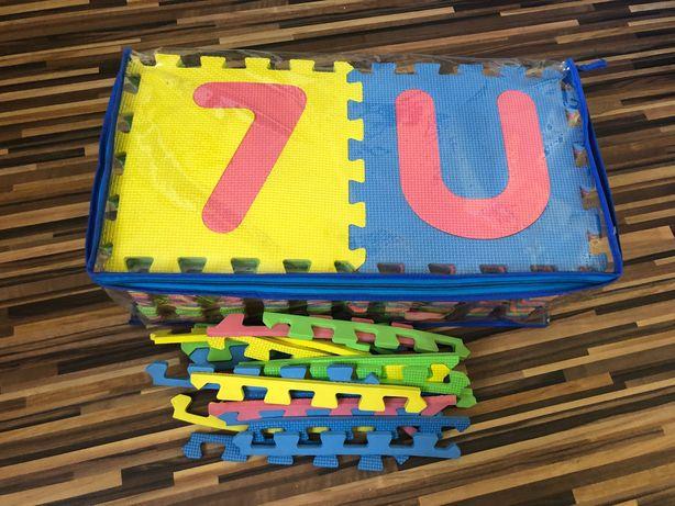 Gruba Mata Piankowa alfabet + cyferki i listewki boczne