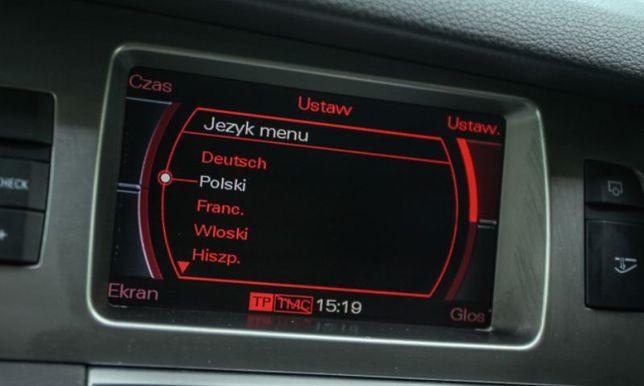 Usługa wgrania Polskiego Menu i Lektora do nawigacji audi MMI2G,MMI3G