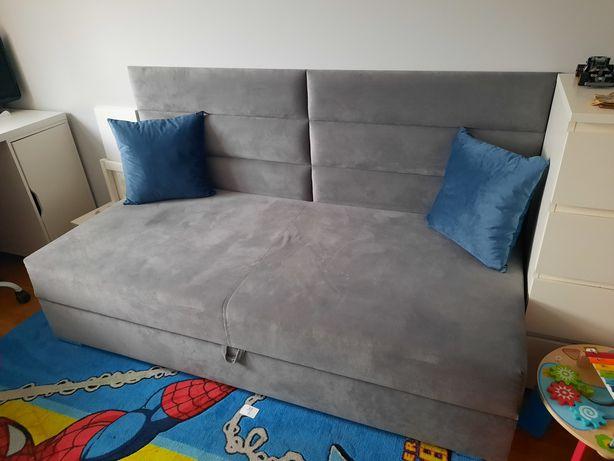 Łóżko, tapczan z pojemnikiem na pościel 80 x 160