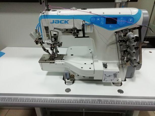 JACK K4 - Maquina recobrimento com 3 agulhas, corte de linha - NOVA