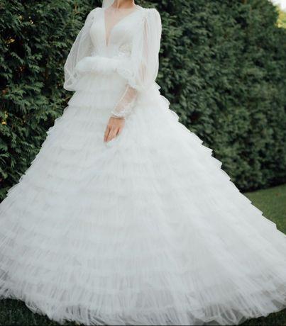 Сукня весільна Daria Karlozi біла платье свадебное белое