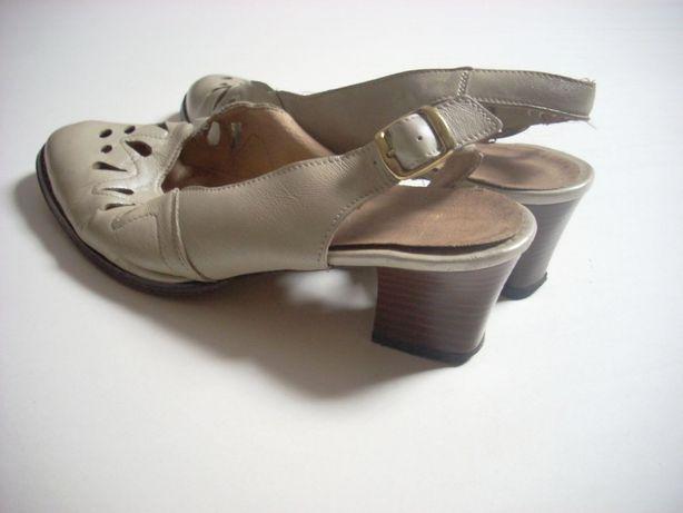 Skórzane buty wiosna lato 40