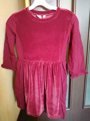 Gep велюрово-трикотажное платье на 6-7 лет, новое!