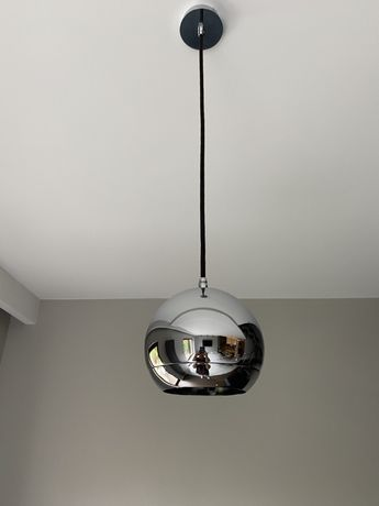 Lampy srebrne kule chrom 3 + 1