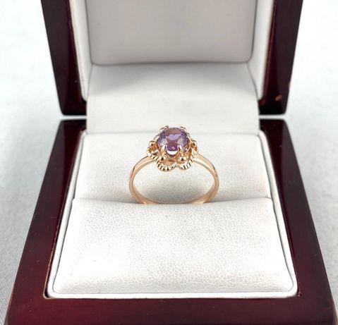 Piękny ZŁOTY pierścionek PR. 583 (14K) r.15