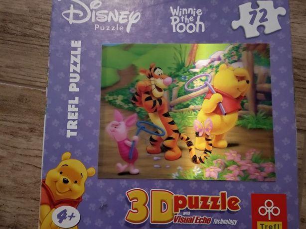 Puzzle 3D Kubuś Puchatek 72 elementy