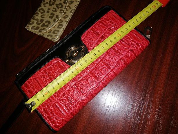 Клатч кошелёк красный