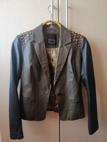 Кожаный пиджак, курточка, косуха, кожанка с шипами