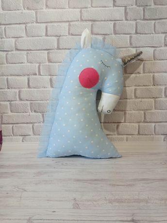 Единорог игрушка, подушка ручной работы