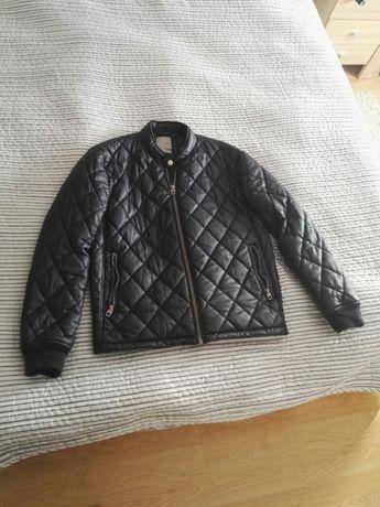 Pikowana skórzana kurtka Zara jesienna zimowa