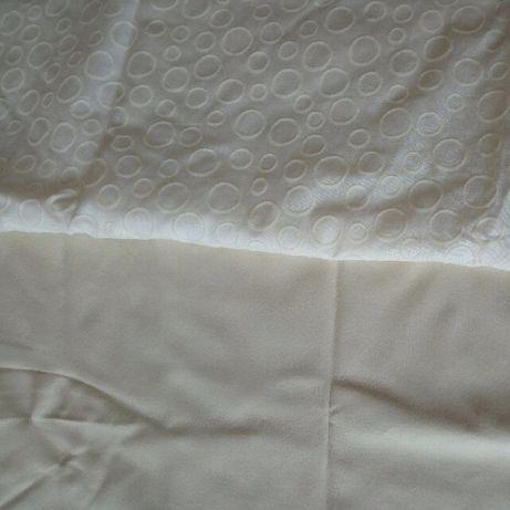 Ткань блузочная отрез 1,3м ширина 1.5м хлопок с напылением и кожзам