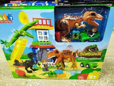 Детский Конструктор с крупными деталями JDLT Динозавры, 43детали