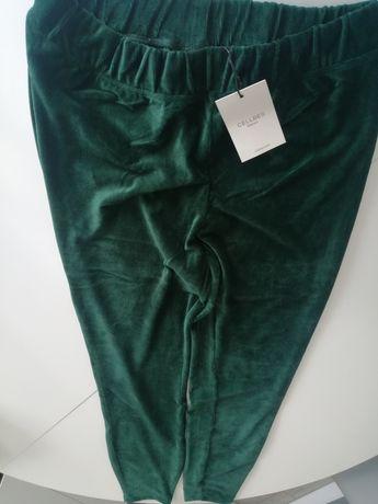Spodnie, legginsy butelkowa zieleń
