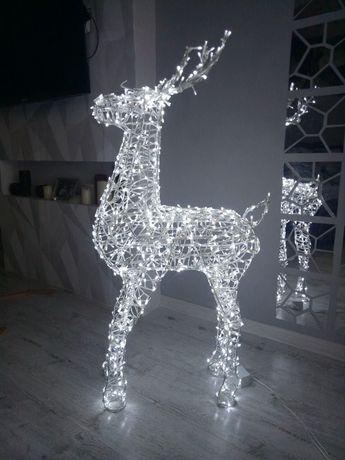 новогодний диодный светящийся олень  световая инсталляция фотозона