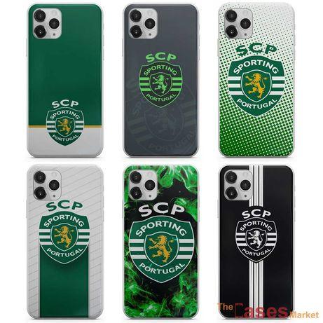 Capas de telemóvel Sporting (iPhone, Huawei, Samsung, Xiaomi)