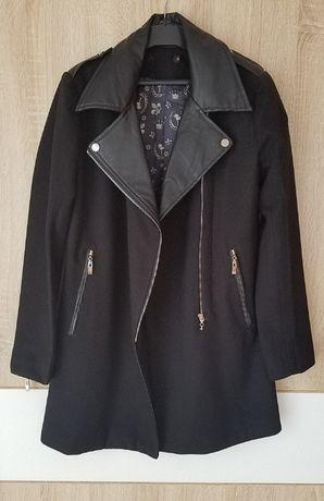 Asos Zara płaszcz z elementami skóry M