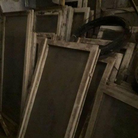 Okna drewniane stare na szklarnię