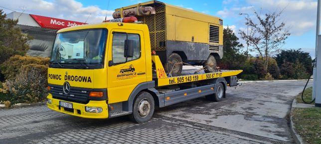 Pomoc drogowa 24h - holowanie, autolaweta, transport samochodów laweta