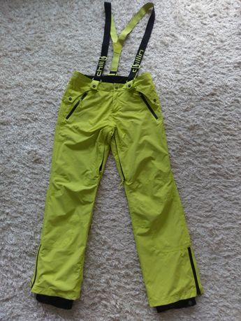 Spodnie narciarskie Chillin zielone, r. L z szelkami