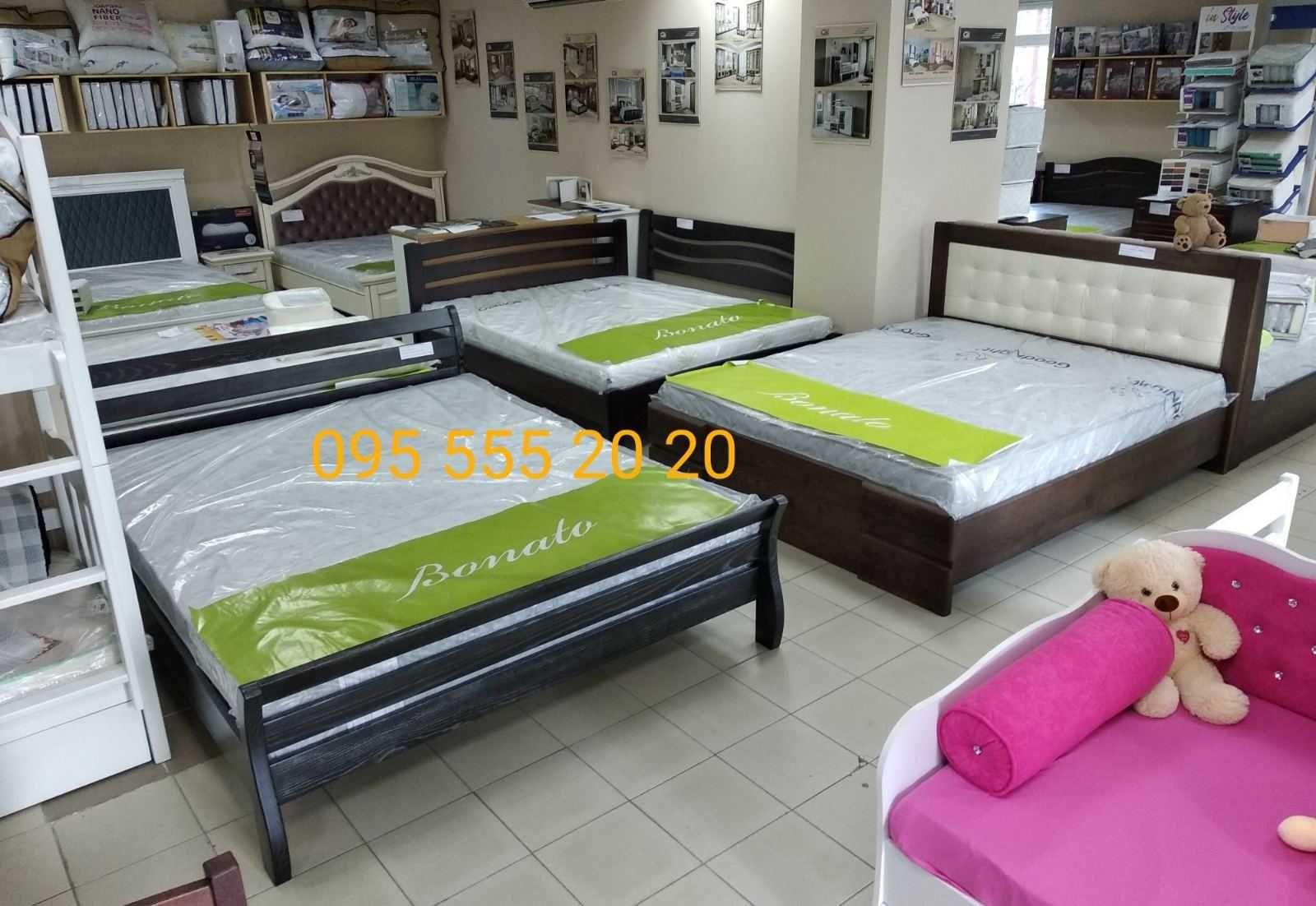 Оригінальні двоспальні ліжка з ясеня 160х200, готові, Луцьк, магазин
