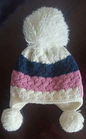 шапка зимняя на девочку
