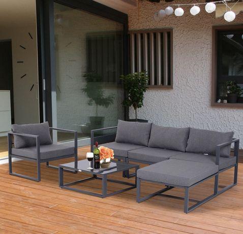 Meble ogrodoww aluminiowe + poduszki