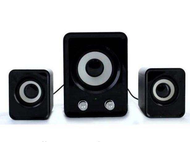 Колонки Мощные для компьютера FT-202 Mini 2.1 – Сабвуфер USB Black