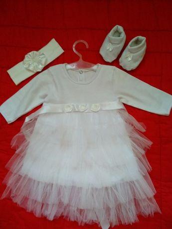 Нарядное платье, набор для крестин, крестильный
