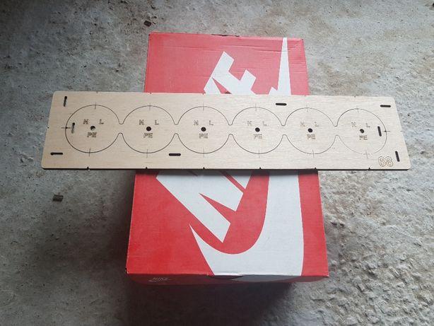 Шаблон, Кондуктор для сверления подрозетников, 68 диаметр 6 отверстий.