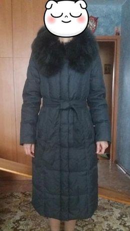 Новое фирменное зимнее пальто пуховик snow owl, пух,натуральный мех