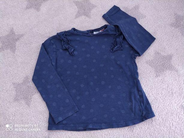 Koszulka dziewczęca z falbanką zara 98
