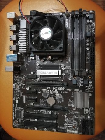 Материнская плата GIGABYTE GA 970A DS3P + Процессор + память