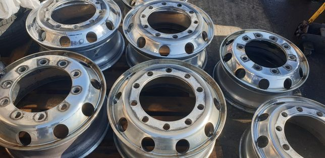 Felgi aluminiowe Dura bright Alcoa 32 mm 9,00x22,5 używane