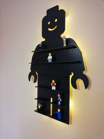 Lampka Półka LED na figurki lego prezent !