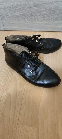 Skórzane buty r.40