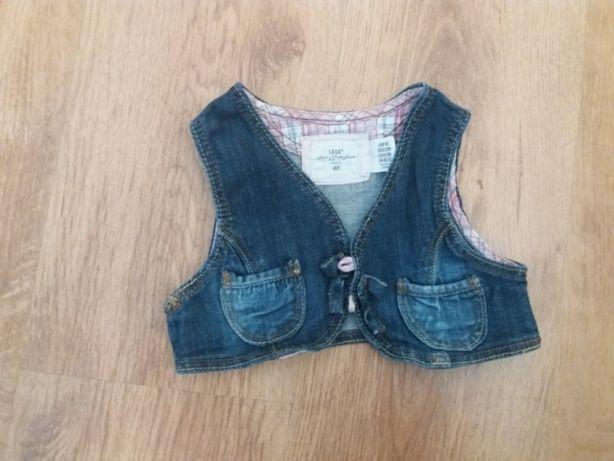 Kamizelka jeans jeansowa dżinsowa H&M r. 80