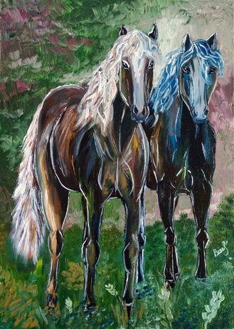 "Картина олією ""Пара коней"", 2020 р."
