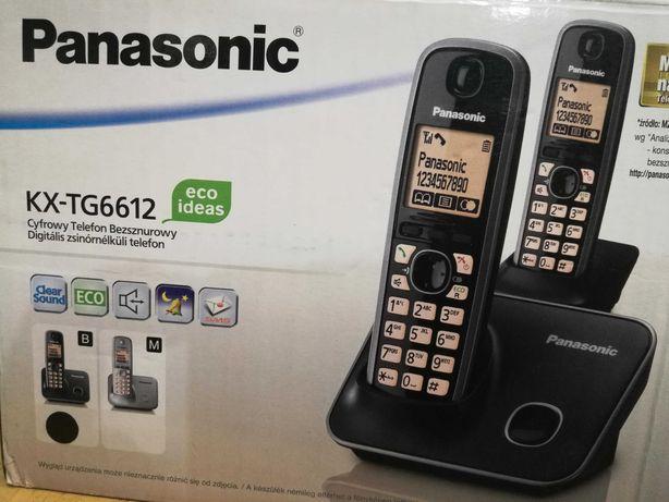 PANASONIC telefon BEZPRZEWODOWY KX-TG6612 + dodatkowa słuchawka