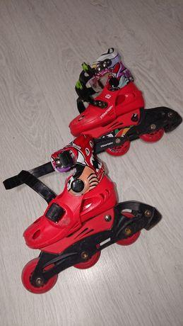Детские раздвижные роликовые коньки Tempish Racer Baby комплект