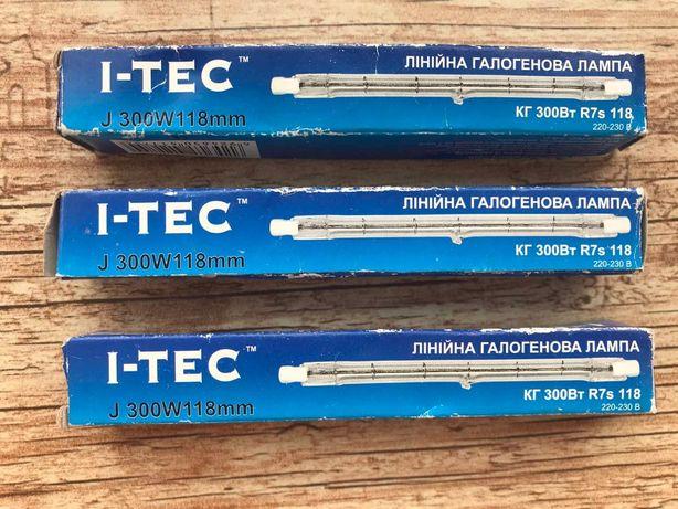 Лампа галогенная I-TEC J 300 W 118mm