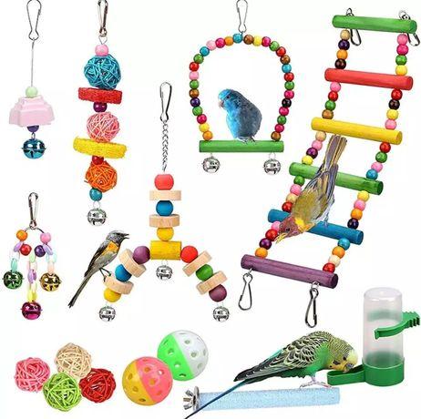 Zabawki dla papug 14szt