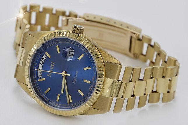 Złoty 14k (585) męski zegarek (styl Rolex) 62,3g NOWY - NAJ! mw079y K