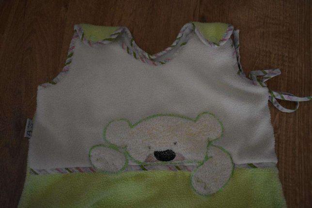 Śpiworek niemowlęcy ciepły polarowy, w środku bawełna