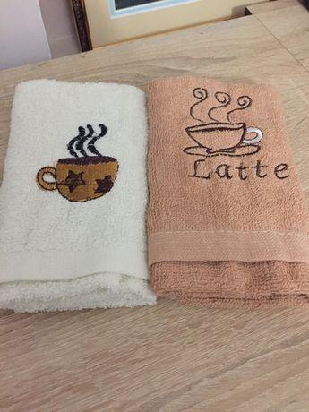 "Кухонные махровые полотенца ""Кофе"". Цена за два 40 грн"