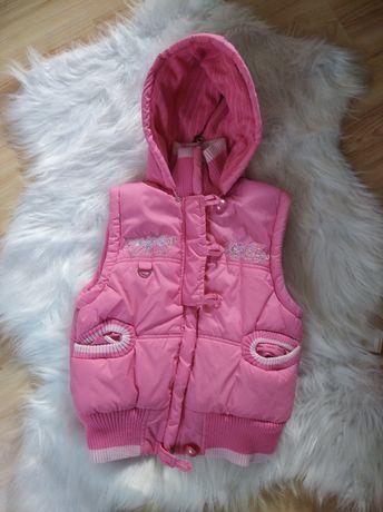 Kamizelka puchowa kurtka bez rękawów dla dziewczynki 12lat