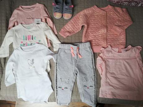 Zestaw dla dziewczynki Coll Club roz. 68 body, spodnie, buty, bluza